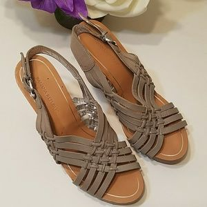 Banana Republic Leather Huarache Chunky Heels